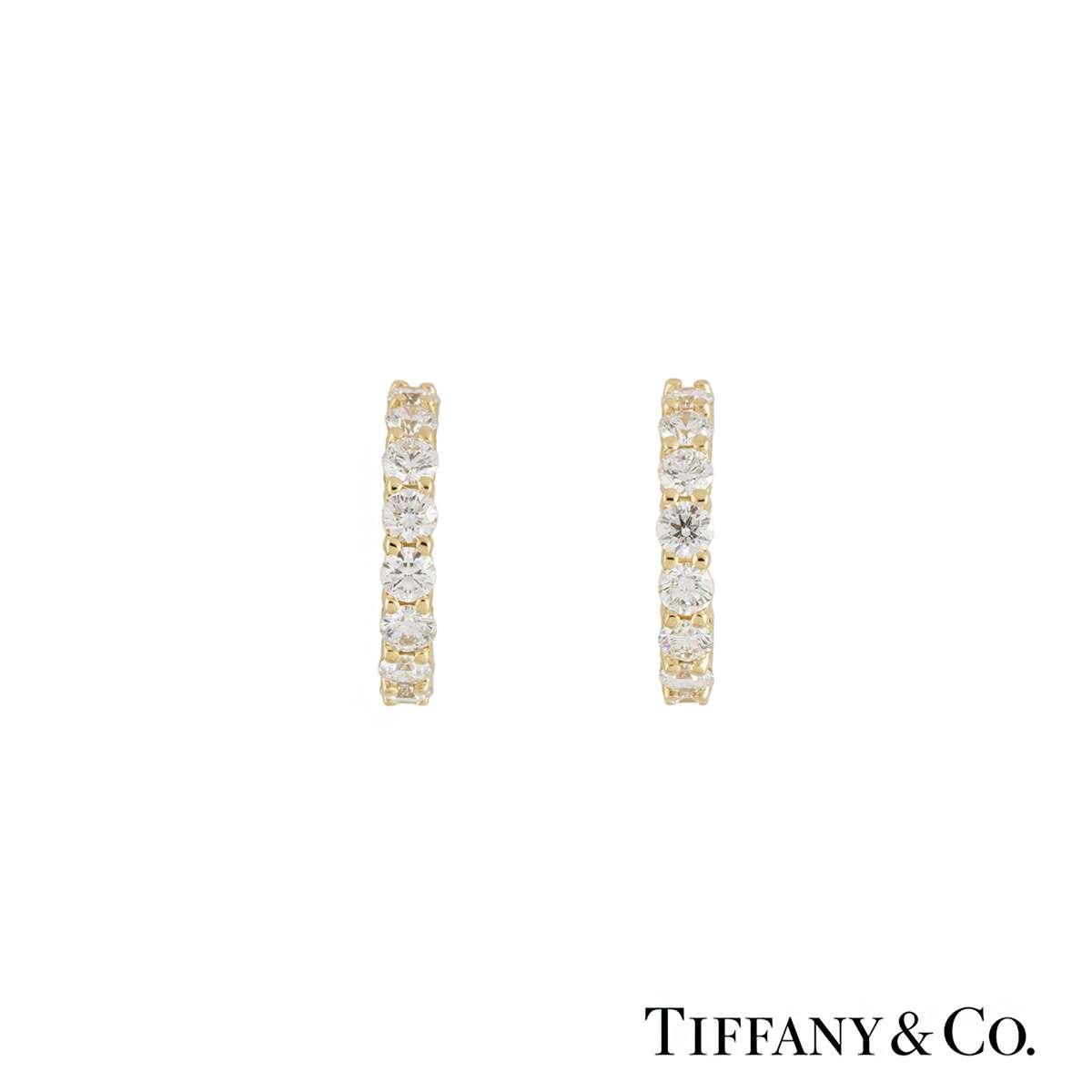 tiffany diamond hoop earrings rich diamonds of bond street